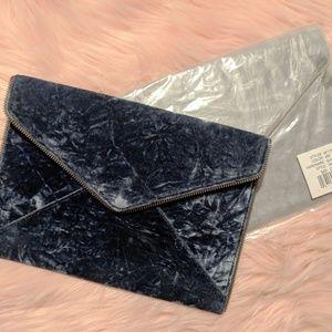 Rebecca Minkoff Distressed Velvet clutch